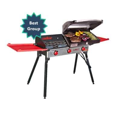 best group camping grill stove combo