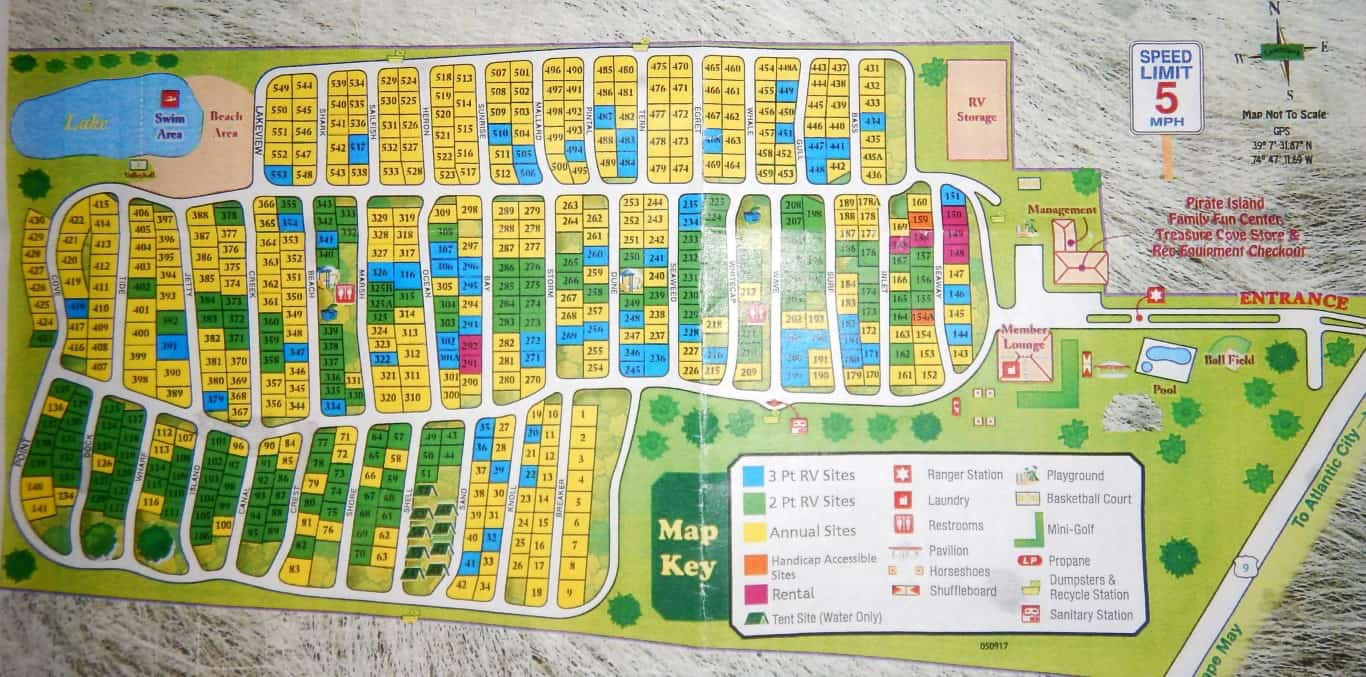 sea pines campground map with seasonal sites