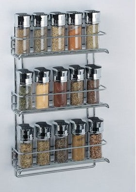 3-Tier Wall Mount Spice Rack