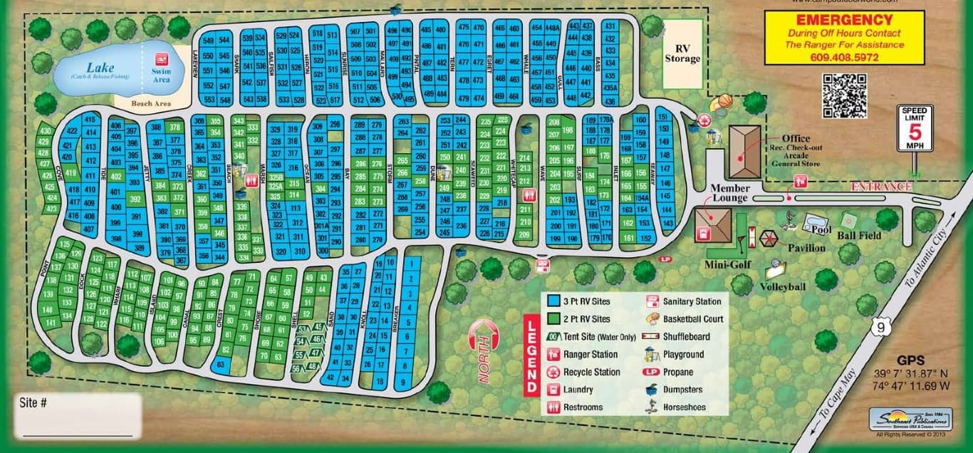 sea pines campground map