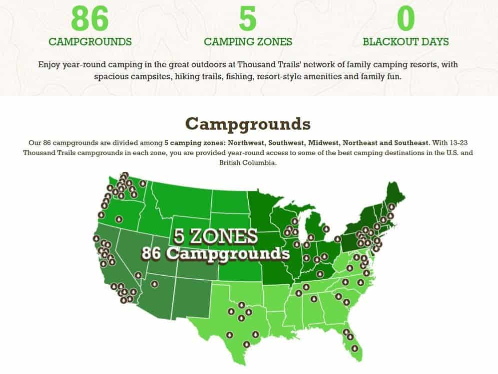 thousand trails camping zones map