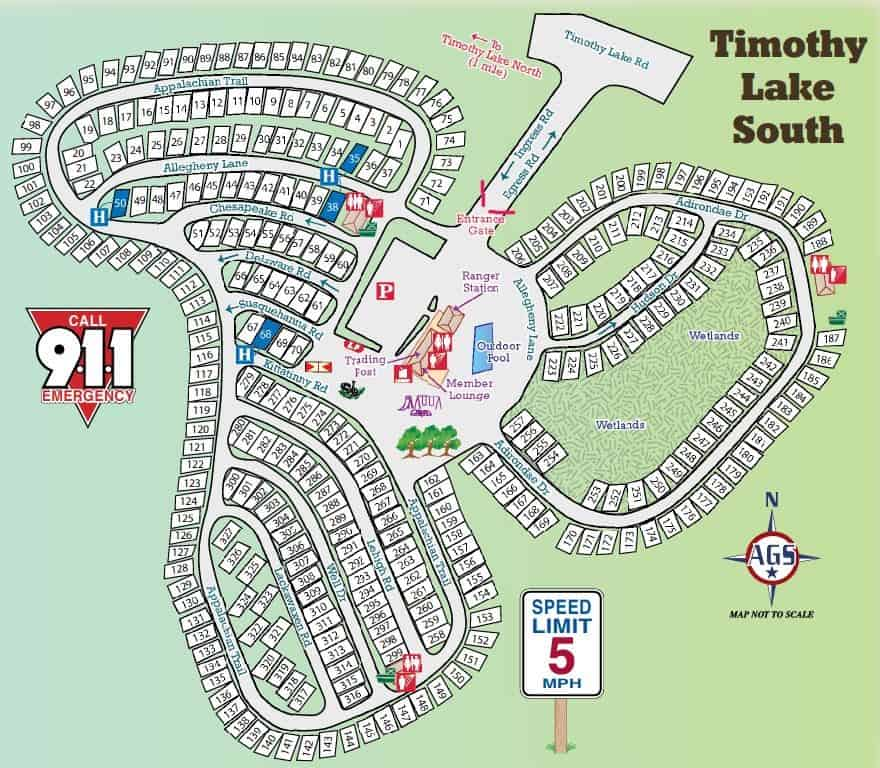 timothy lake south campground map